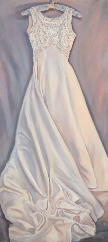 "Expectations<br>Oil on panel, 35"" x 80"""