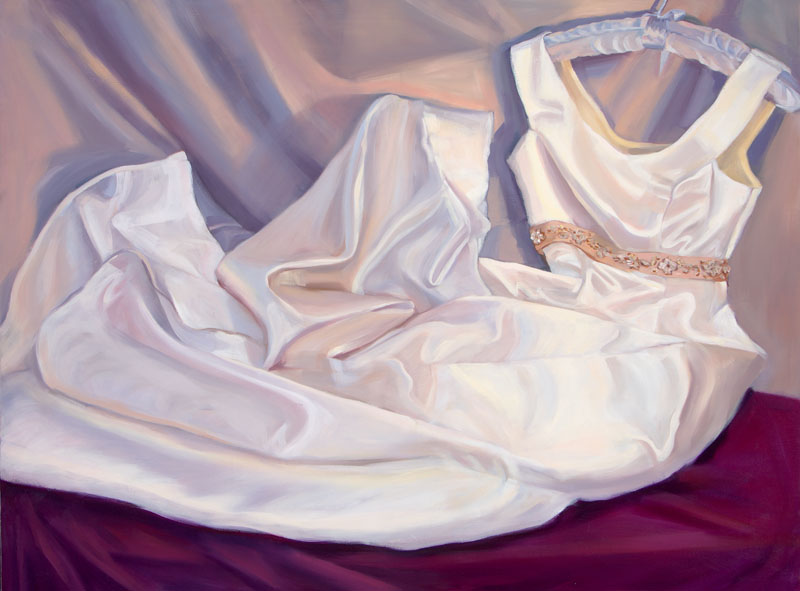 "For Elizabeth<br>Oil on panel, 34"" x 48"""