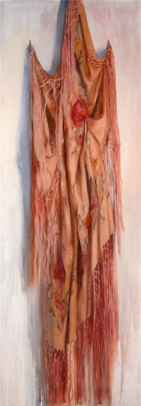 "The Grieving Shawl<br>Oil on panel, 28"" x 80"""