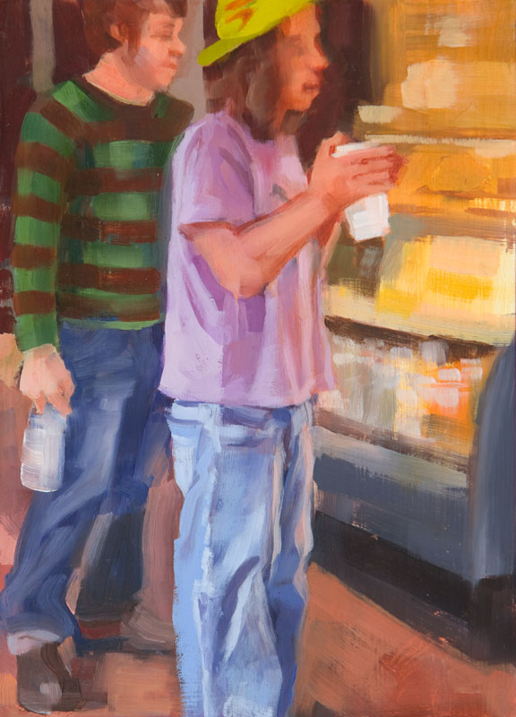 """Refill<br>Oil on panel, 4"""" x 8"""""""