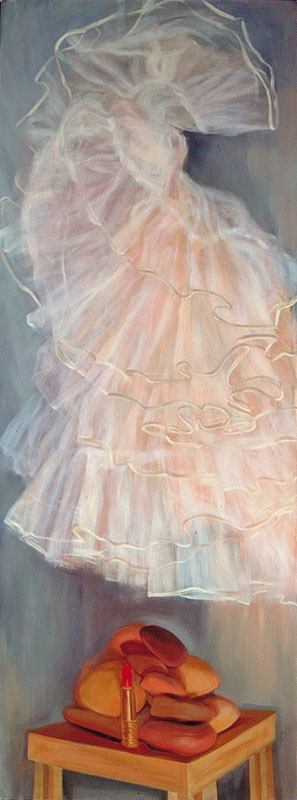 "Self Portrait: The 50's<br>Oil, 28"" x 72"""