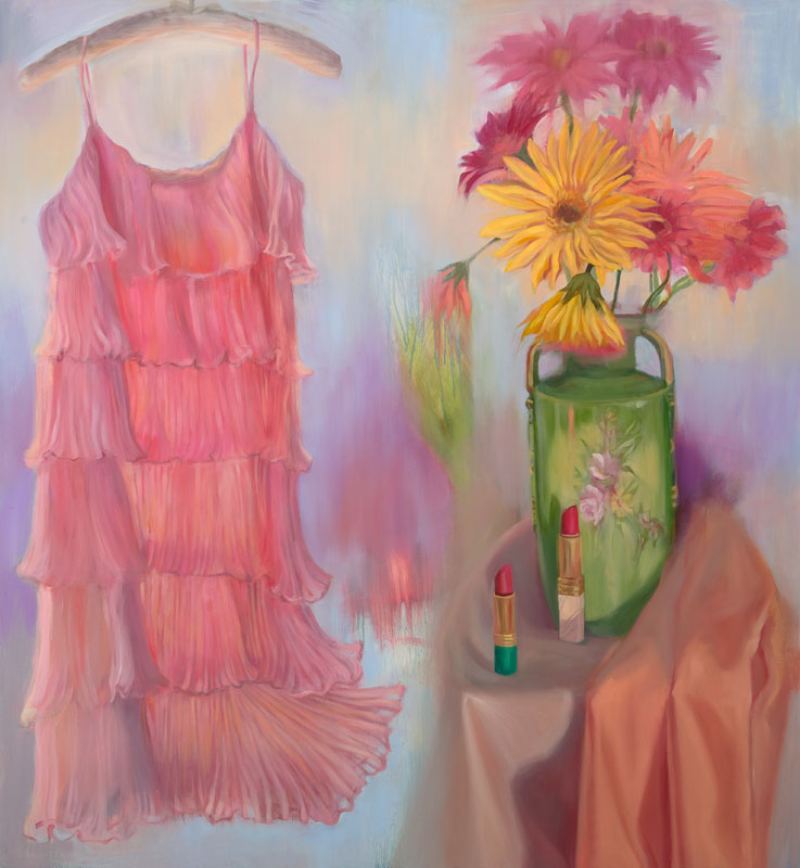 "Spring Fling<br>Oil on panel, 46"" x 50"""