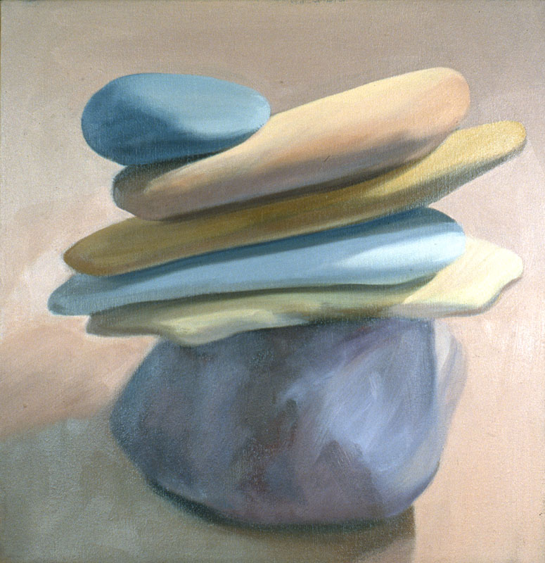 "Holding the Balance<br>Oil on canvas, 20"" x 20"""