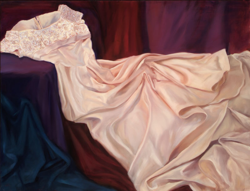 "Wedding Memories<br>Oil on panel, 46"" X 60"""